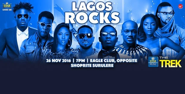 <h3>STAR MUSIC TREK 2016 - Lagos Nov 26 #LagosRocks</h3><br />Lagos, get ready for the biggest and star-studded concert in town!
